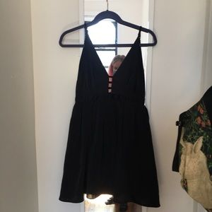 Free People Black Dress with pockets